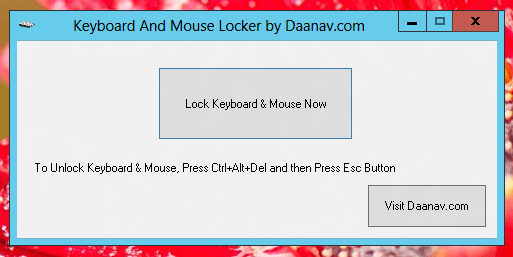 Free Keyboard And Mouse Locker Utility for Windows
