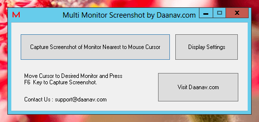 Multi Monitor Screenshot Software Utility for Windows