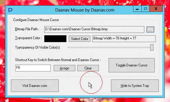 Make You Mouse Cursor Big, Huge or Even Small with Daanav Mouse