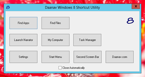 Launch Windows 8 Features Easily with Mouse instead of Windows 8 Keyboard Shortcuts
