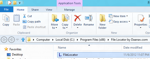 Free Utility to Locate File in Windows Explorer