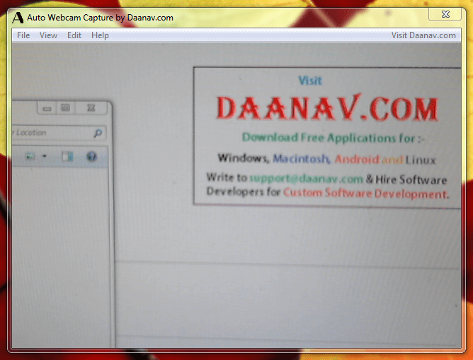 Daanav Auto Webcam Capture