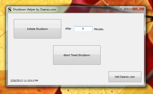 Daanav Shutdown Helper for Windows