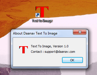 Desktop Shortcut and First Version of Text to Image