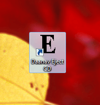Desktop Shortcut of Eject CD Software