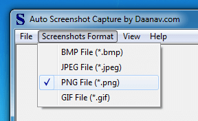 File Format Supported by Automatic Screenshot Capture Software