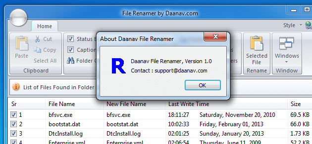 Rename Multiple Files with Daanav File Renamer