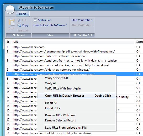 URL Verifier Control Commands