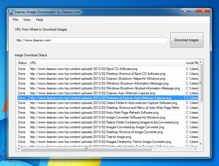 Image Downloader Software for Windows