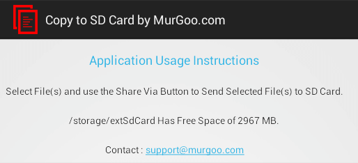 Copy to SD Card Usage Instructions on Android