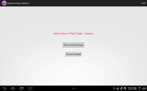 Video Player Selection for Hindi Movies App