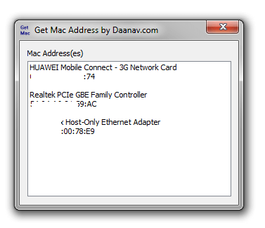 View MAC Address of Computer