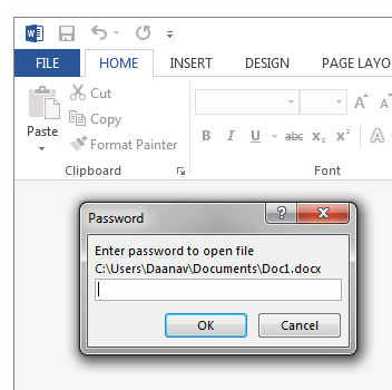Lost Password of Word File