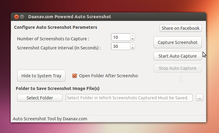 Auto Screenshot on Linux Ubuntu