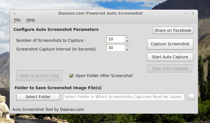 Linux Auto Screenshot on Linux Mint Cinnamon
