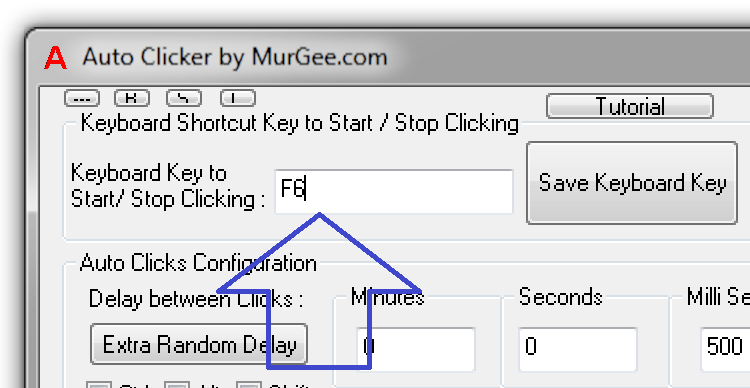 Keyboard Shortcut to Start and Stop Automatic Clicking