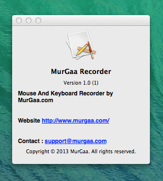 Mac OSX Recorder Tool