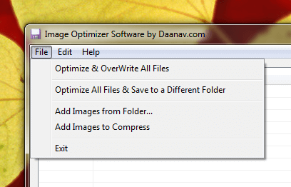 Image Optimization Software for Windows