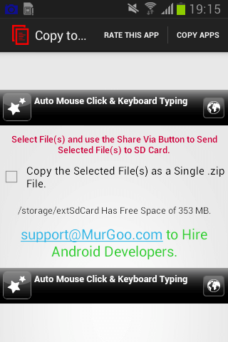 Copy File(s) to SD Card on Android Tablet or Mobile Phone