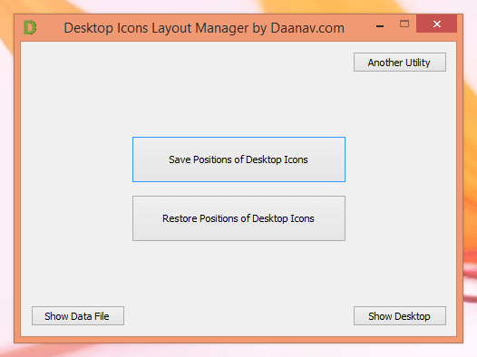 Save and Restore Desktop Icons Layout with Desktop Icons Layout Manager