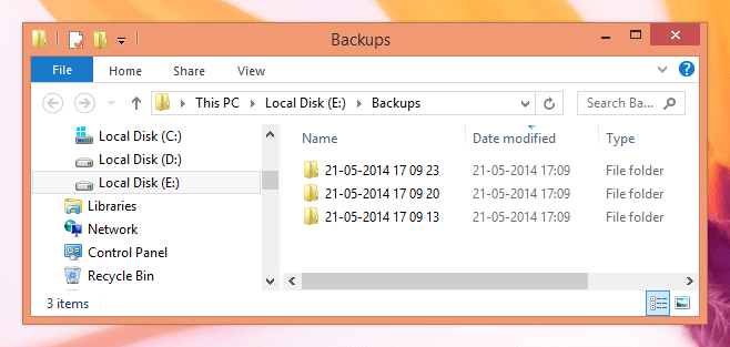 File and Folder Backup done by Backup Software