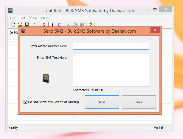 Send a Single SMS Message from the Bulk SMS Software