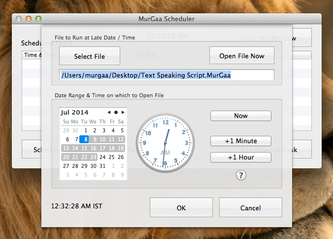 Create New Task with Mac OSX Task Scheduler