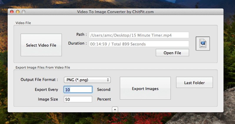 Mac Application to Convert Video to Pictures