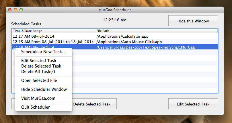 Mac Task Scheduler to Schedule Application or Files to run or open at a Later Date / Time.