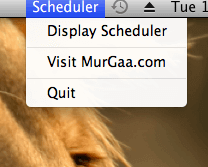 Task Scheduler Menu in Statubar of Mac OS X