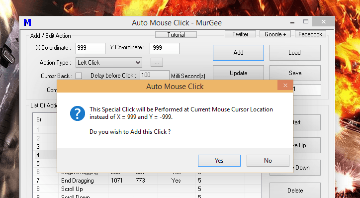 Fast Clicker at Mouse Cursor Position for Games