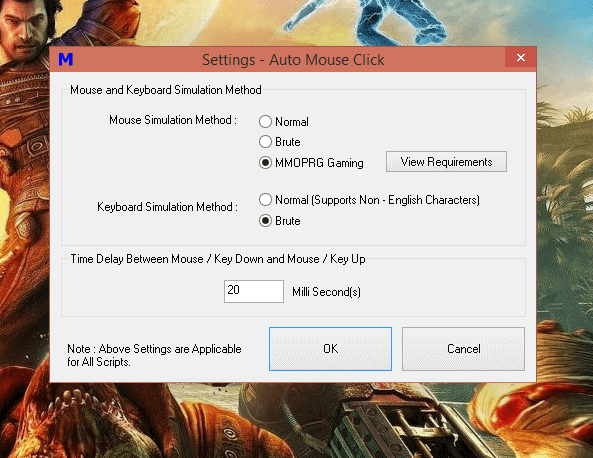 MMOPRG Gaming Mode in Auto Mouse Click