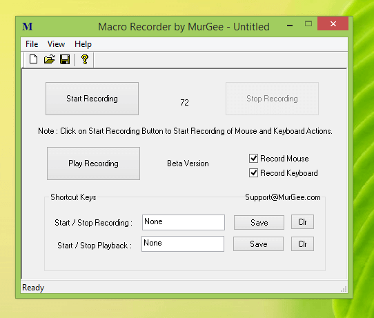 Macro Recorder to Record and Playback Mouse Clicks and Keystrokes