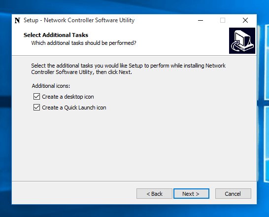 Create Desktop Shortcut during Installation of Network Controller