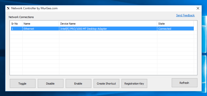 Enable or Disable Network Connections with Network Controller Software for Windows