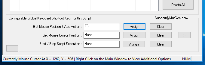 Keyboard Shortcut to Get Screen Location and Add Mouse Click or Other Action to the Auto Mouse Click Script