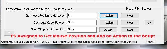 Keyboard Shortcut to Add a Mouse Click to the Macro Script